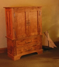 Rustic Alder 2 Drawer Armoire