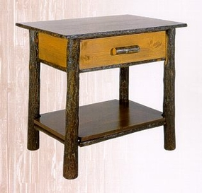 Classic Nightstand with Solid Shelf