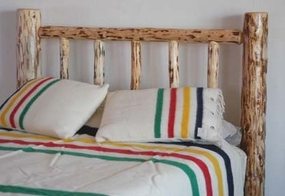 Mountain Log Headboard