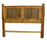 Rustic Barn Wood & Pine Post Headboard