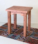 Rustic Alder Side Table
