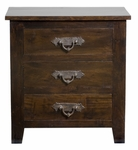 Florence Three Drawer Nightstand
