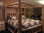 Frontier Log Canopy Bed