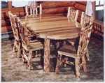 Oval Dining Table with Log Legs