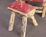 Upholstered Half Log Footstool