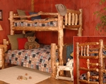 Silver Creek Log Bunk Bed