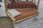 Log Trundle Bed w/Mattress