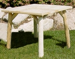 Cedar Log Parquet Picnic Table