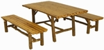 Split Log Outdoor Table