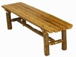 Split Log Outdoor Bench