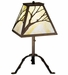 Branch Table Lamp Beige Art Glass with Antique Copper Finish