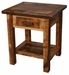 Weathered Pine 1-Drawer Nightstand with Shelf