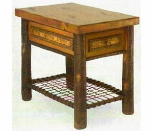 free rustic end tables and nightstands from old hickory lodge craft with rustic end tables