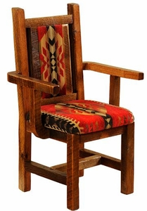 Barnwood Upholstered Arm Chair