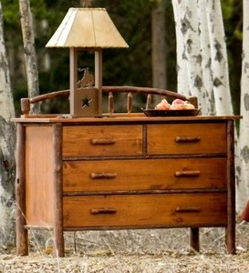 Wagon Wheel Four Drawer Chest