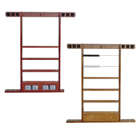 Economy Wall Racks - 6 Pool Cue & Ball