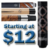 Pool Cues by Price