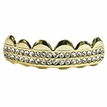 14K Gold Plated 2-Row Top Grillz