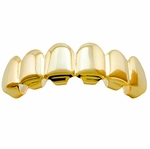 Plain Gold Plated Top Teeth Grillz