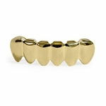 Plain Gold Plated  Bottom Teeth Grillz