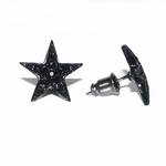 Black Star Iced-Out Stud Earrings