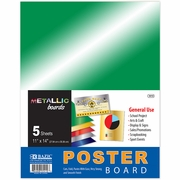 "BAZIC 11"" X 14"" Metallic Poster Board (5/Pack)"