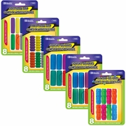 BAZIC Assorted Color & Shape Pencil / Pen Grip (8/Pack)
