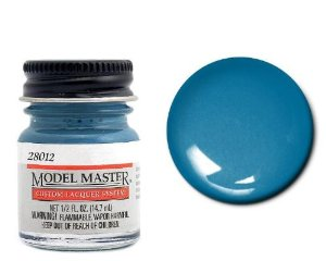 1/2oz. Bottle Model Master Auto Lacquer Chrysler Engine Blue