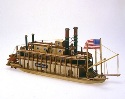 1/206 Mississippi Paddle-Wheel Steamboat