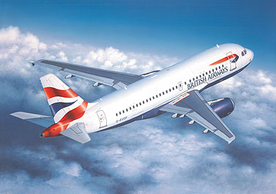 1/144 A319 British Airways Passenger Airliner