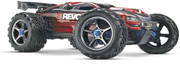 1/10 scale Traxxas E-Revo Brushless Edition Racing Monster Truck.