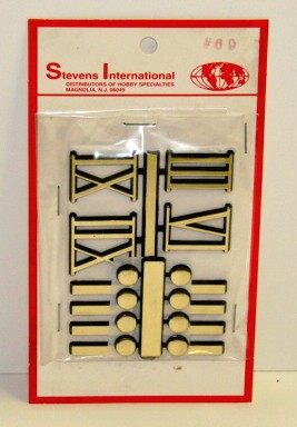 """1"""" Bars (8) Dots (8) & Roman Numbers (Gold Set of 4)"""
