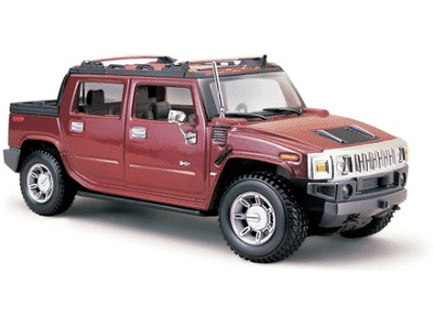1/27 2001 Hummer H2 SUT Concept (Red) (D)