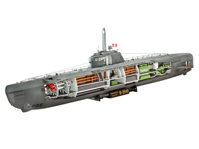 1/144 German U-Boat Type XXI Submarine w/Interior