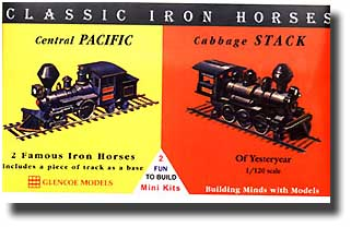 1/120 Classic Iron Horse Locos Central Pacific & Cabbage Stack