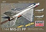 1/144 MiG21PF Supersonic Jet Fighter