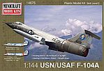 1/144 F104A US Supersonic Jet Aerospace Trainer