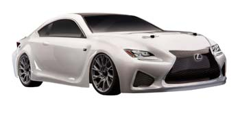 1/10 scale Apex Lexus RC F On-Road Car from Team Associated.
