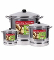 Aluminum Steamer Set 3 Pcs