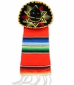 Adorno sombrero c/sarape. 6 Pack of 1 Pc