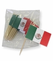 Botaneros con banderita de Mexico. 6 pack of 25 Pcs