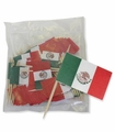 Botaneros con banderita de Mexico. 6 Pack of 100 pcs