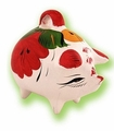 Large pig money box. 6 pzs
