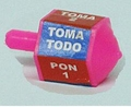 Plastic take all spinning toy -  Toma Todo.