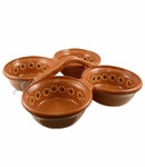 FOOD SAFE Clay salsa server four set. 8 pcs