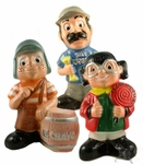 Mixed characters money box. 10 pzs