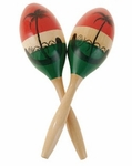 Maracas Tricolor Grandes. 6 Pack of 1 Pc