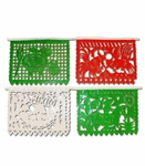 Papel Picado Tricolor. 6 pack of 1 String