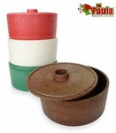 Large plastic tortilla warmer. 6 pcs