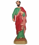 Resin Statue, San Pedro. 12 in. 6 Pzs